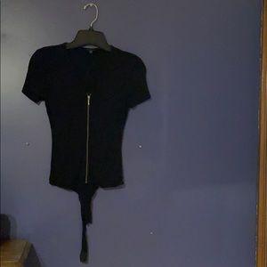 Black tee body suit